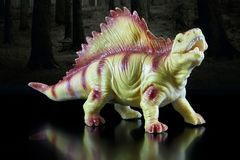 Modello del giocattolo di un dinosauro Immagini Stock Libere da Diritti
