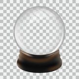 Modello del globo della neve illustrazione vettoriale