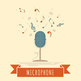 Modello del grafico degli strumenti musicali Microfono Immagine Stock Libera da Diritti