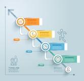 Modello del grafico di informazioni di cronologia di affari Illustrazione di vettore royalty illustrazione gratis