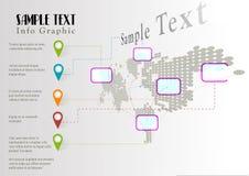 Modello del grafico di informazioni del mondo di vettore Immagine Stock