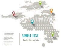 Modello del grafico di informazioni del mondo di vettore Fotografie Stock
