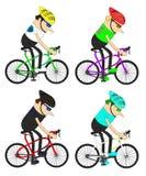 Modello del gruppo dei ciclisti dell'uomo Immagini Stock