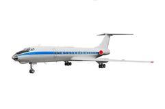 Modello del jet d'annata leggendario del Soviet del oldtimer e dell'aeroplano o dell'aereo del Russo Fotografia Stock Libera da Diritti