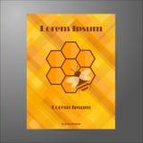 Modello del libretto sul tema di apicoltura Fotografia Stock