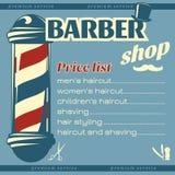 Modello del listino prezzi del parrucchiere Fotografie Stock Libere da Diritti