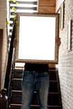 Modello del manifesto con il posto per la vostra progettazione Fotografia Stock