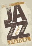 Modello del manifesto di festival di jazz Fotografia Stock Libera da Diritti