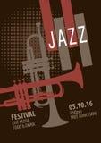 Modello del manifesto di festival di jazz Fotografia Stock
