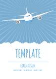 Modello del manifesto di viaggio di vettore Immagine Stock Libera da Diritti