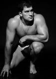 Modello del maschio del muscolo Fotografia Stock Libera da Diritti