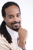 Modello del maschio dell'afroamericano Fotografie Stock Libere da Diritti