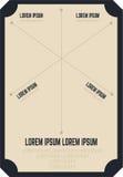 Modello del menu Fotografia Stock Libera da Diritti