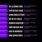 Modello del menu con le opzioni orizzontali/insegne Vettore Eps10 Fotografia Stock Libera da Diritti