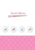 Modello del menu dei sushi illustrazione vettoriale