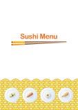 Modello del menu dei sushi illustrazione di stock