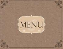 Modello del menu del caffè Immagini Stock Libere da Diritti