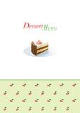 Modello del menu del dessert Fotografie Stock Libere da Diritti