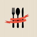 Modello del menu del ristorante nel retro vettore di stile Immagine Stock