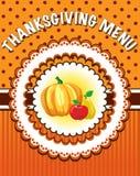 Modello del menu di ringraziamento Fotografia Stock