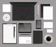 Modello del modello di progettazione corporativa dell'ufficio di vista superiore Fotografie Stock Libere da Diritti