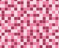 Modello del mosaico quadrato rosa Modello del fondo delle mattonelle Immagine Stock