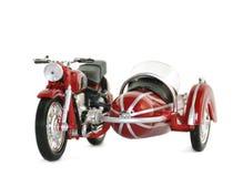 Modello del motociclo con un sidecar. Isolato Fotografia Stock Libera da Diritti