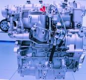 Modello del motore a benzina dell'automobile del primo piano Fotografia Stock Libera da Diritti