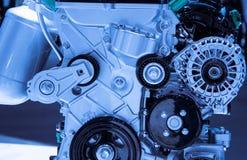 Modello del motore a benzina dell'automobile del primo piano Immagini Stock