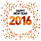 Modello 2016 del nuovo anno Fotografia Stock Libera da Diritti