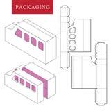 modello del pacchetto Derisione al minuto bianca isolata su royalty illustrazione gratis