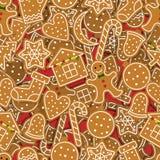 Modello del pan di zenzero di Natale Fotografia Stock