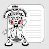 Modello del personaggio del mostro con il posto per il vostro testo Immagini Stock Libere da Diritti
