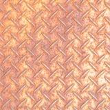 Modello del piatto del diamante del metallo Fotografia Stock Libera da Diritti