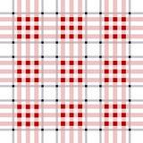 Modello del plaid del boscaiolo di vettore Seamles del plaid di tartan rossi e neri Illustrazione di vettore Immagine Stock
