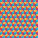Modello del poligono di colore Immagini Stock
