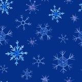 Modello del quadrato di natale dell'acquerello Ornamento del nuovo anno con neve ed il fiocco di neve Per progettazione, la stamp Fotografie Stock