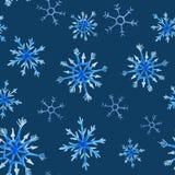 Modello del quadrato di natale dell'acquerello Ornamento del nuovo anno con neve ed il fiocco di neve Per progettazione, la stamp Immagine Stock