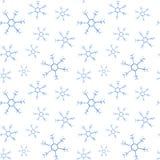 Modello del quadrato di natale dell'acquerello Ornamento del nuovo anno con neve ed il fiocco di neve Per progettazione, la stamp Fotografie Stock Libere da Diritti