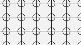 Modello del quadrato e del cerchio collegato monocromio semplice Fotografie Stock Libere da Diritti