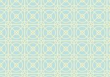 Modello del quadrato e del cerchio su colore pastello Immagine Stock