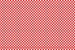 Modello del quadrato rosso su fondo bianco Fotografia Stock
