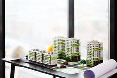 Modello del quartiere residenziale Fotografie Stock Libere da Diritti