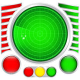 Modello del radar Immagine Stock
