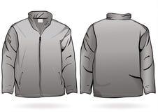 Modello del rivestimento o della maglietta felpata degli uomini illustrazione vettoriale