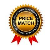Modello del segno dell'etichetta dell'oro di garanzia della partita di prezzi Fotografia Stock
