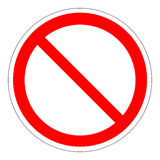 Modello del segno di proibizione Fotografia Stock Libera da Diritti
