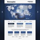 Modello del sito Web Fotografia Stock Libera da Diritti