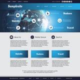 Modello del sito Web Fotografie Stock Libere da Diritti