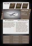 Modello del sito Web Immagini Stock